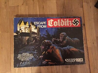 VINTAGE 1970s ESCAPE FROM COLDITZ BOARD GAME ~ PARKER GAMES ~ COMPLETE