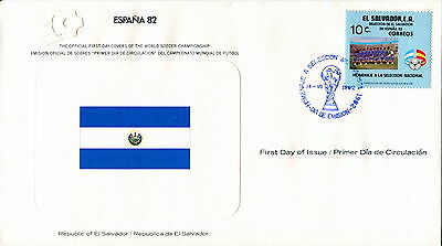 1982 El Salvador. Football World Cup First Day Cover. Royal Spain Federation
