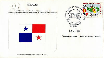1982 Panama. Football World Cup First Day Cover. Royal Spain Football Federation