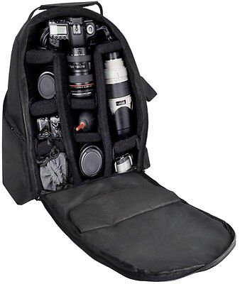 NEW Digital Camera Backpack Canon Nikon Sony Pentax Camcorder Case Bag Padded