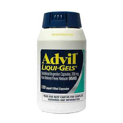 Advil Liqui-Gels, Ibuprofen, 200 mg., 120 Capsules Free Shipping Worldwide