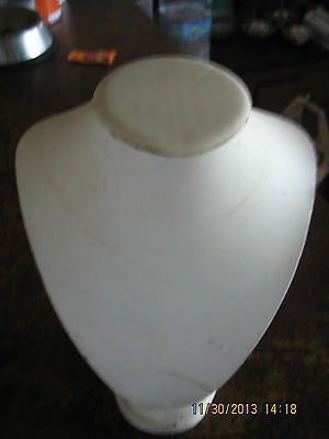 Vintage Breast Jewelry Display Leather Soft Cushion Miniature