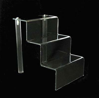 """Acrylic 2"""" Shelf 3 Stairway Appetizer or Dessert Display Stand 4"""" Wide"""