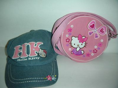 Girls Hello Kitty LOT Purse and Hat