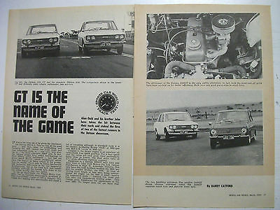 1969 Datsun 1000Gt & 1600Gt Complete 4 Page Australian Magazine Track Test