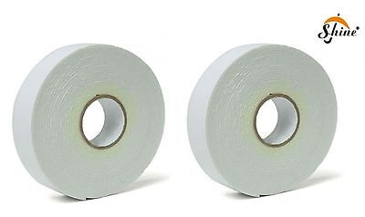 2 x Double-Sided Heavy Duty A1 Wall Picture Mirror Mounting Foam Tape; 17mm x 3m
