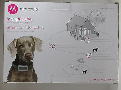 """Motorola WIRELESSFENCE25 Portable & Rechargeable Dog Containment """"Fence"""""""