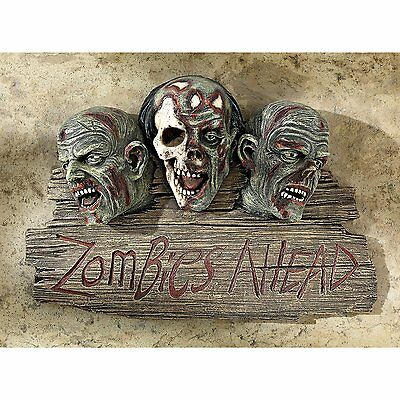 CL6670 - Zombies Ahead Welcome Wall Sculpture