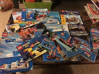 Huge Lot Of Lego Creator And Lego System Instruction Manuals