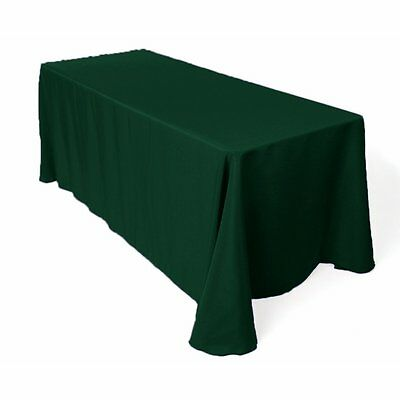 LinenTablecloth 90 x 132-Inch Rectangular Polyester Tablecloth Hunter Green