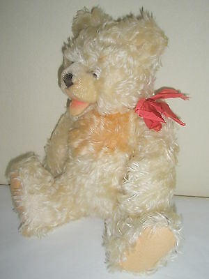 Vintage 1961 Rare Zotty Steiff Teddy Bear Open Mouth 2 Color Mohair Jointed