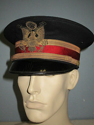 Us Army M1912 Artillery Officer Full Dress Hat Heavy Bullion Embroidery