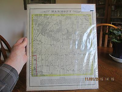 Rare 1873 HARMONY TOWNSHIP JANESVILLE Wisconsin Atlas MAP Rock County