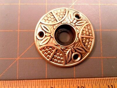 VTG Antique Ornate Fancy Brass EASTLAKE Door Knob ROSETTE Backplate Cover
