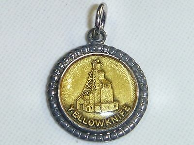 YELLOWKNIFE NWT Vintage Silver Plated GIANT MINE Charm