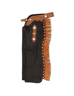 Tough-1 Western Chaps Premium Smooth Leather Cutting Cowboy Horse 63-610