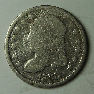 1835 Large Date Silver Bust Half Dime 5¢ Coin Lot# MZ 3310