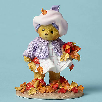 Cherished Teddies*BEAR PICKING UP LEAVES*New*AUTUMN*Fall Leaves Me Happy*4049731