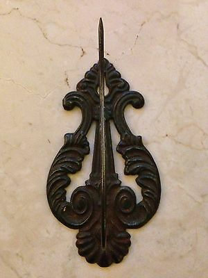 Antique Ornate Filigree Design Metal Paper Hook Victorian Look 6""
