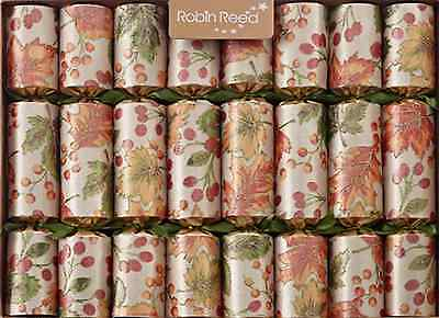 Robin Reed 8 Handmade Fall Festival Thanksgiving Harvest English Crackers Gold