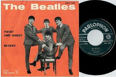 THE BEATLES Twist and shout Misery 45rpm 7' + PS 1964 ITALY MINT- Green label