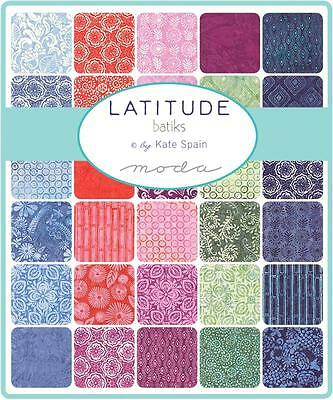 "Moda Jelly Roll~Latitude - Batiks ~ Kate Spain  ~ 2 1/2"" Strips~  100% Cotton"