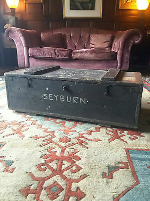 Trunk Chest Coffee Table Blanket Box Vintage Retro