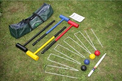 Croquet Set Lawn Sets Garden Full Size Adult Player Executive Games Game Kids