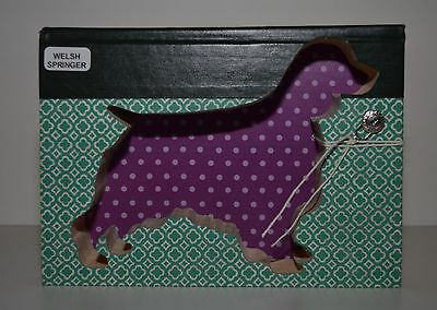 Welsh Springer Spaniel Upcycled Book - 001