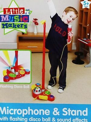 New Kids Children Boys Electronic Microphone with Stand Toy Singalong BNIB