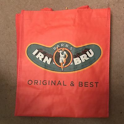 TWO IRN BRU Bottle Bags RARE (old Classic Logo)