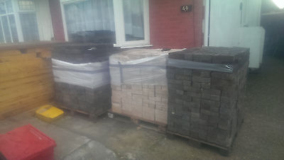 bricks for sale, black and yellow