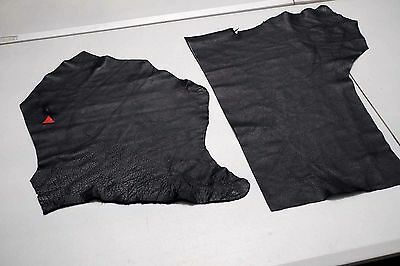 Black Cowhide Elmo Upholstery Leather Pieces 50 x 29cm and 38 x 30cm Semi-Anilin