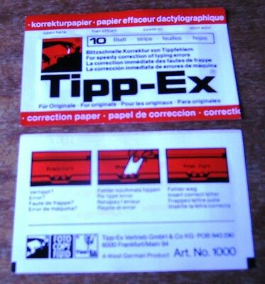 2 Packets Of Tipp-Ex Correction Paper - 10 Strips Per Pack