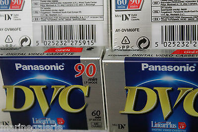 4 Cassettes Mini DV pour camescopes K7 Panasonic neuves Lot neuf stock France