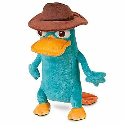 """Disney Phineas and Ferb: Perry Agent P 10"""" Mini Bean Bag Plush NEW with Tag"""