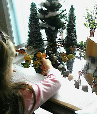 """Christmas Fun Distortion Mirror  - ice display w reflection  24"""" by 54"""" -1 piece"""