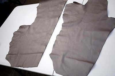 Two tone Beige Cowhide leather pieces/off-cuts embossed stingray design