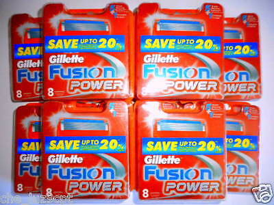 Gillette Fusion Power 10 Packs of 8 Cartridges(80 Razor Blades)RRP$460