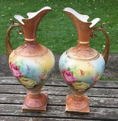 Pair Of Very Large Old Pitcher Vases