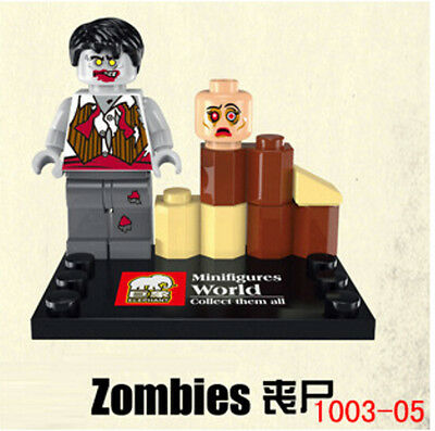 1PC THE WALKING DEAD MiniFigures Set Building Blocks Toy Zombies 1003-5