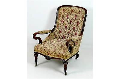 Victorian Mahogany Button Backed Armchair