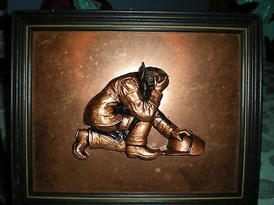 Fireman 3D Picture Fireman Collectible Decor Copper Made
