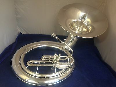 KING 2350 Bb Silver Plated Sousa/Sousaphone w/new case. New Factory Plating