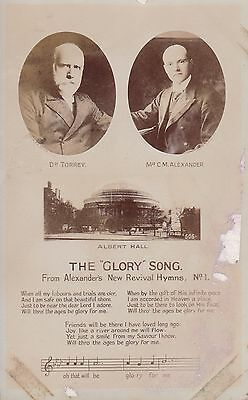 SONG CARD - THE GLORY SONG FROM FROM ALEXANDER'S NEW REVIVAL HYMNS no.1