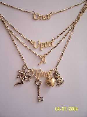 "Vintage Look  Gold Multi-Chain - Multi-Charm.... ""Once  upon a Time"" Necklace"