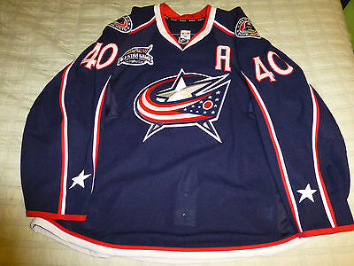 Jared Boll Game Issue Columbus Blue Jackets Jersey