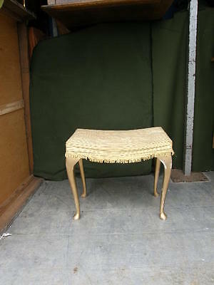 1940s,50s  Lloyd loom style bedroom stool, in good  condition,FREE UK POSTAGE
