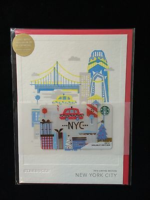 2016 Starbucks NYC / New York City HOLIDAY EDITION gift card  LIMITED EDITION