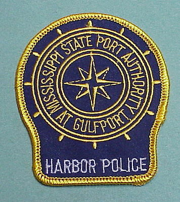 Mississippi  State Port Authority At Gulfport  Police Patch   Free Shipping!!!